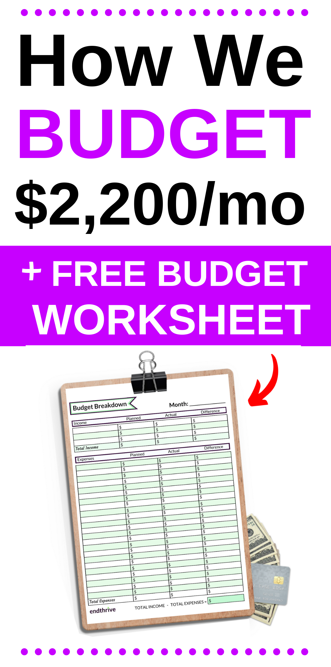 How We Budget A 2 200 Monthly Income In A Big City With