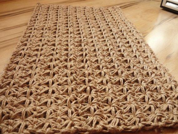 Zerbino Crochet juta corda porta coperta unica Handmade | tappeti ...