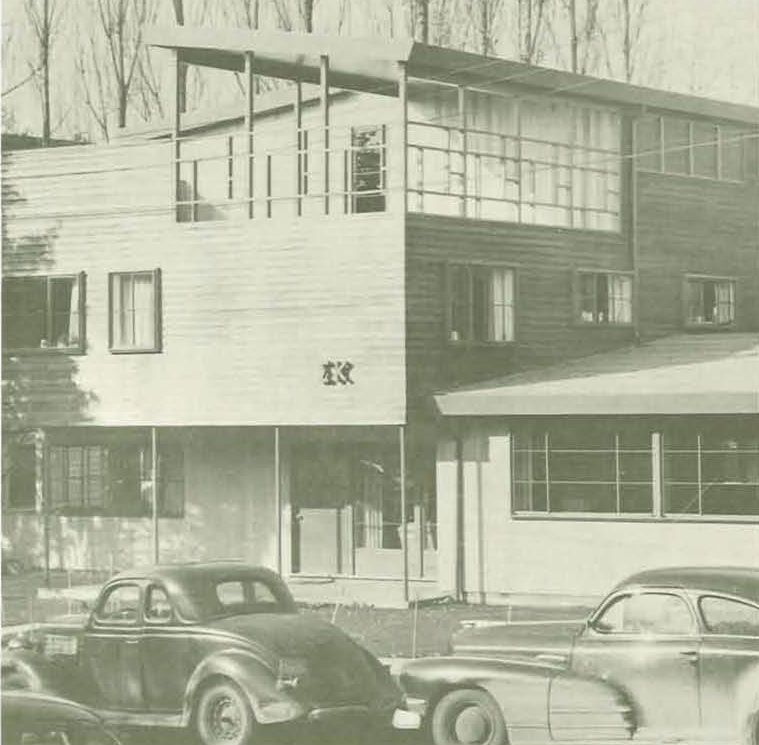 The new Sigma Kappa sorority house 1949. From the 1950 Oregana (University of Oregon yearbook). www.CampusAttic.com
