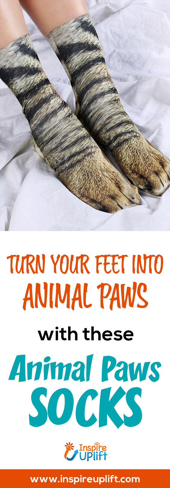 Animal Paws Socks 😍 InspireUplift.com