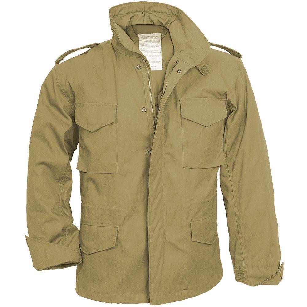 Surplus M65 Jacket Combat Winter Army Classic Parka Liner Casual Mens Coat Beige