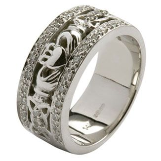 Irish Wedding Sets Celtic Wedding Rings Ladies Diamond Set