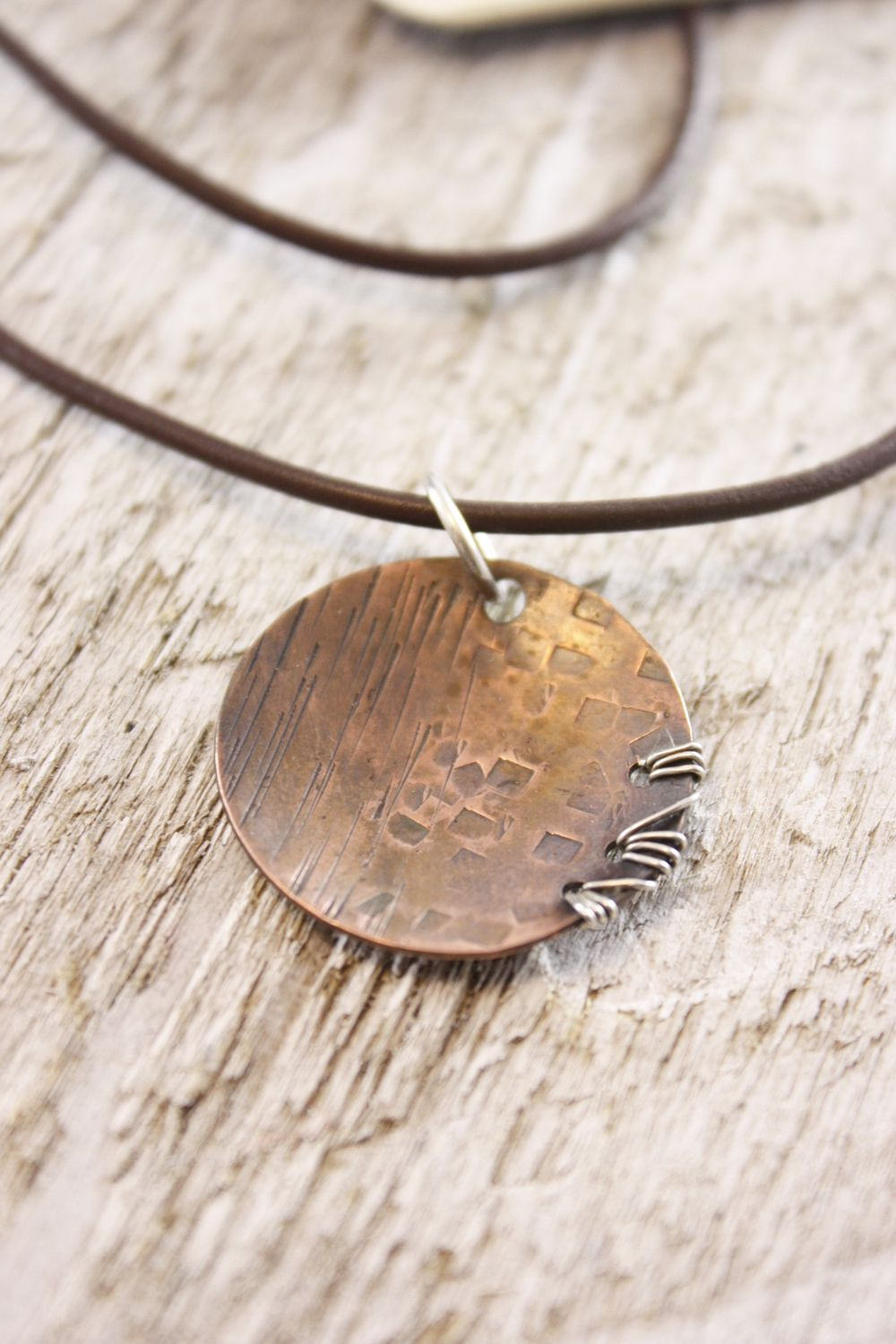 Lacey's Necklace- Copper Medium by Wire Delights