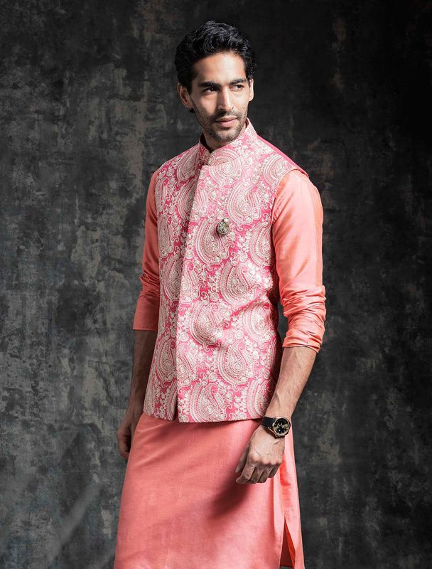 Dapper giving us some style inspiration in a pink jacket | Kurta ...