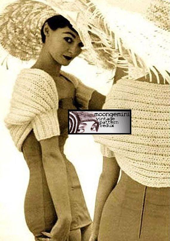 Knit Shrug Day & Night Hamaca Bolero Knitting Pattern Instant ...