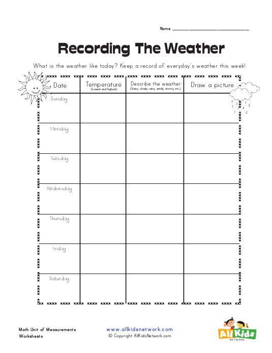 Weather Graphic Organizer Weather Worksheets Graphic Organizers Worksheets