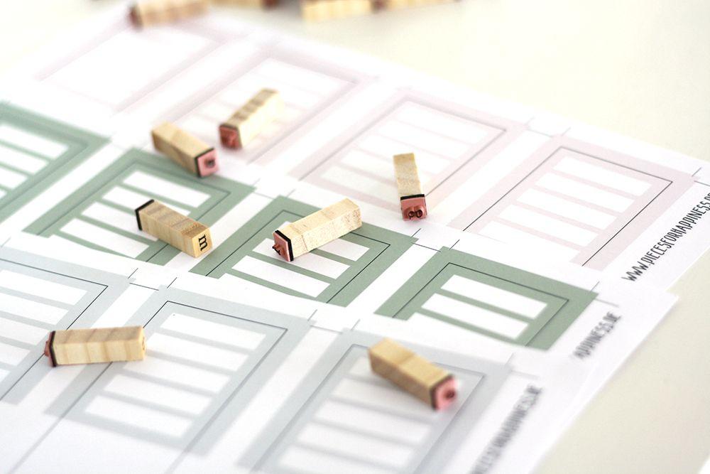 FREE PRINTABLE: Ordnerrücken zum Ausdrucken in modernem Design, mit rosa, grau und grün - passend zum Greenery Trend. Ein kostenfreies Printable für euer Home-Office. | FREEBIE | Grafikdesign | piecesforhappiness.de