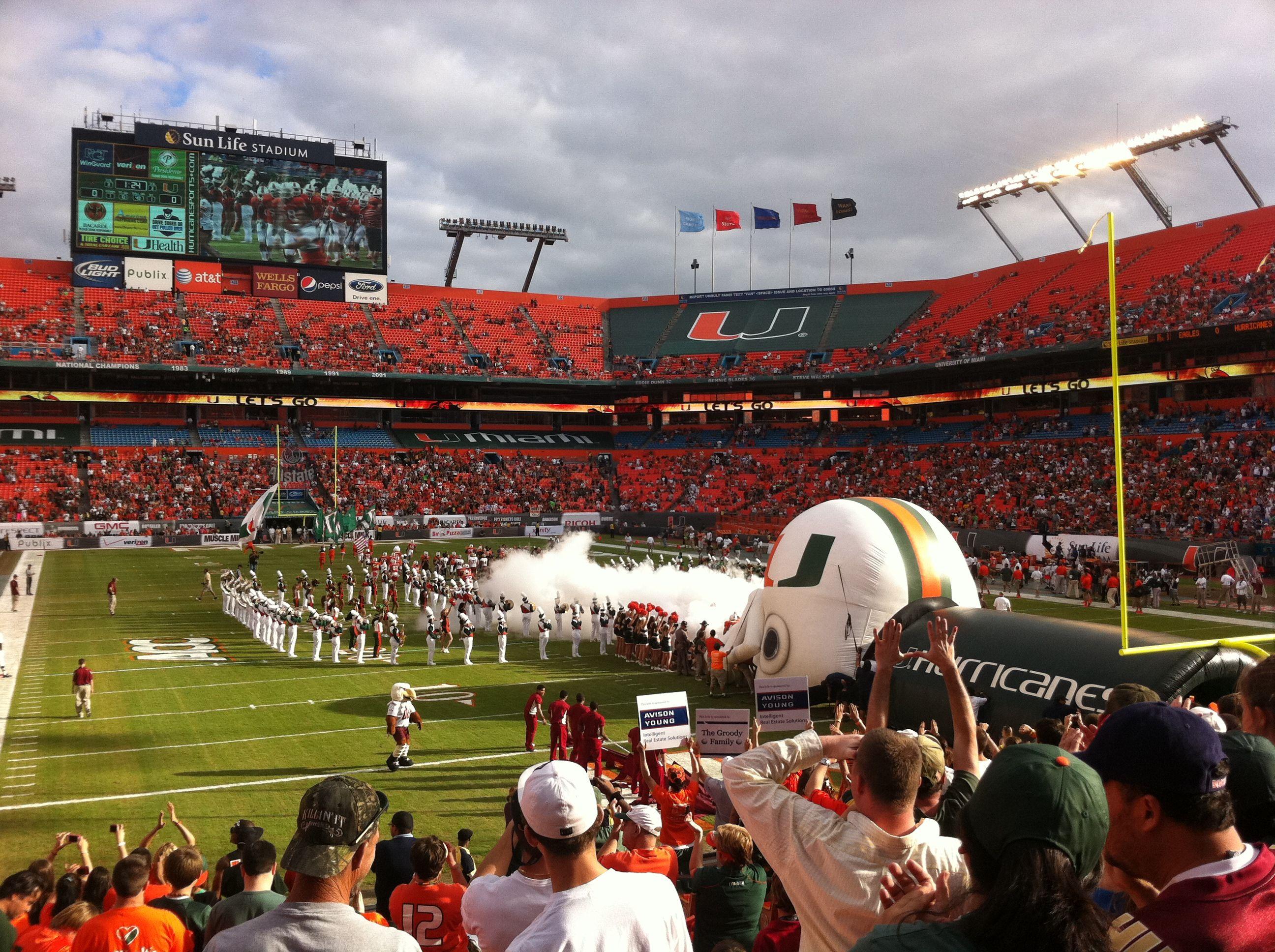 Sun Life Stadium Fl Miami Hurricanes Pinterest Sun Life