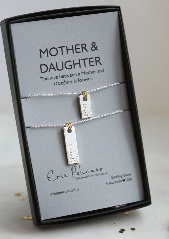 Mother Daughter Necklace Set Christmas Gifts Love Jewelry for Mom