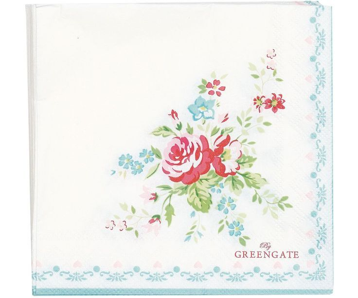 20 Paper Party Napkins Erica of 20 3 Ply floral Tissue Serviettes flowers