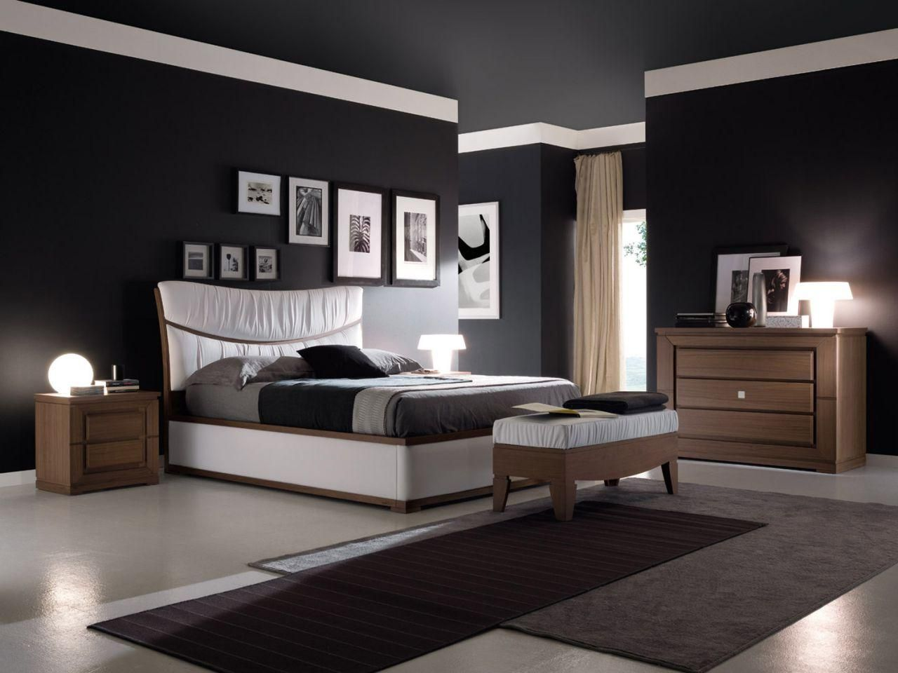 Beautiful Black Paint For Bedroom Walls Pictures Home Design