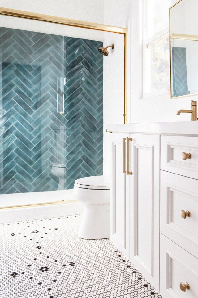 These Teal Shower Tile Ideas Are a Breath of Fresh Air