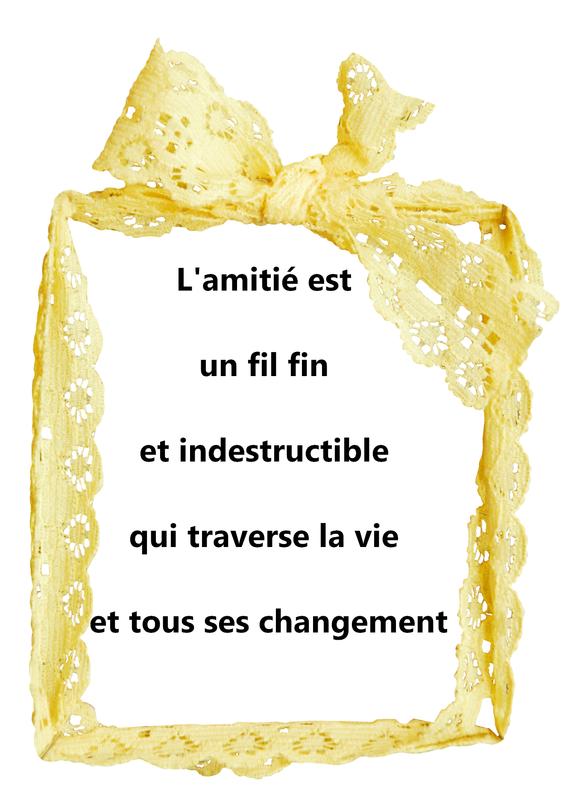 citation amitie indestructible