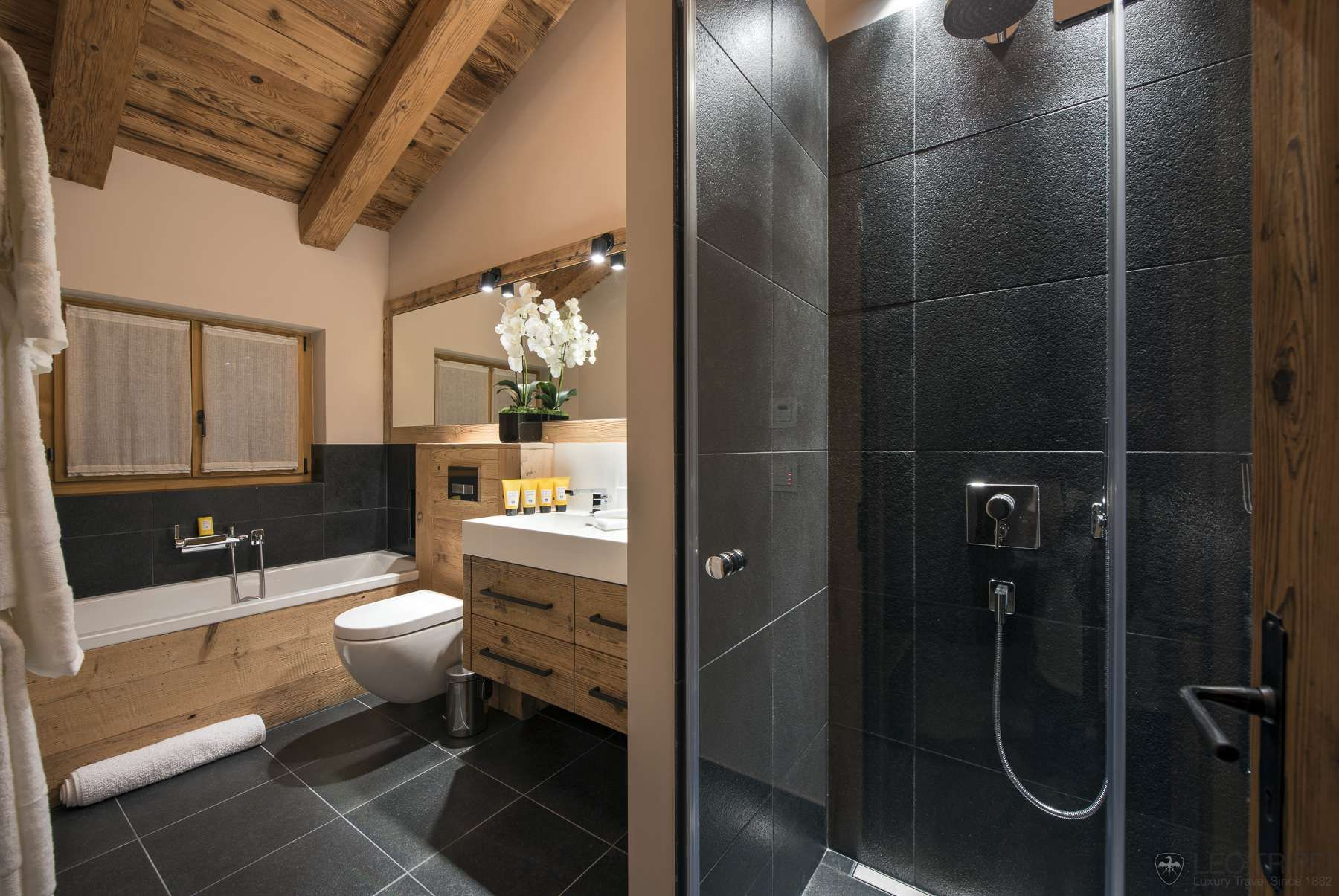 Image result for luxury chalet bathrooms main bath