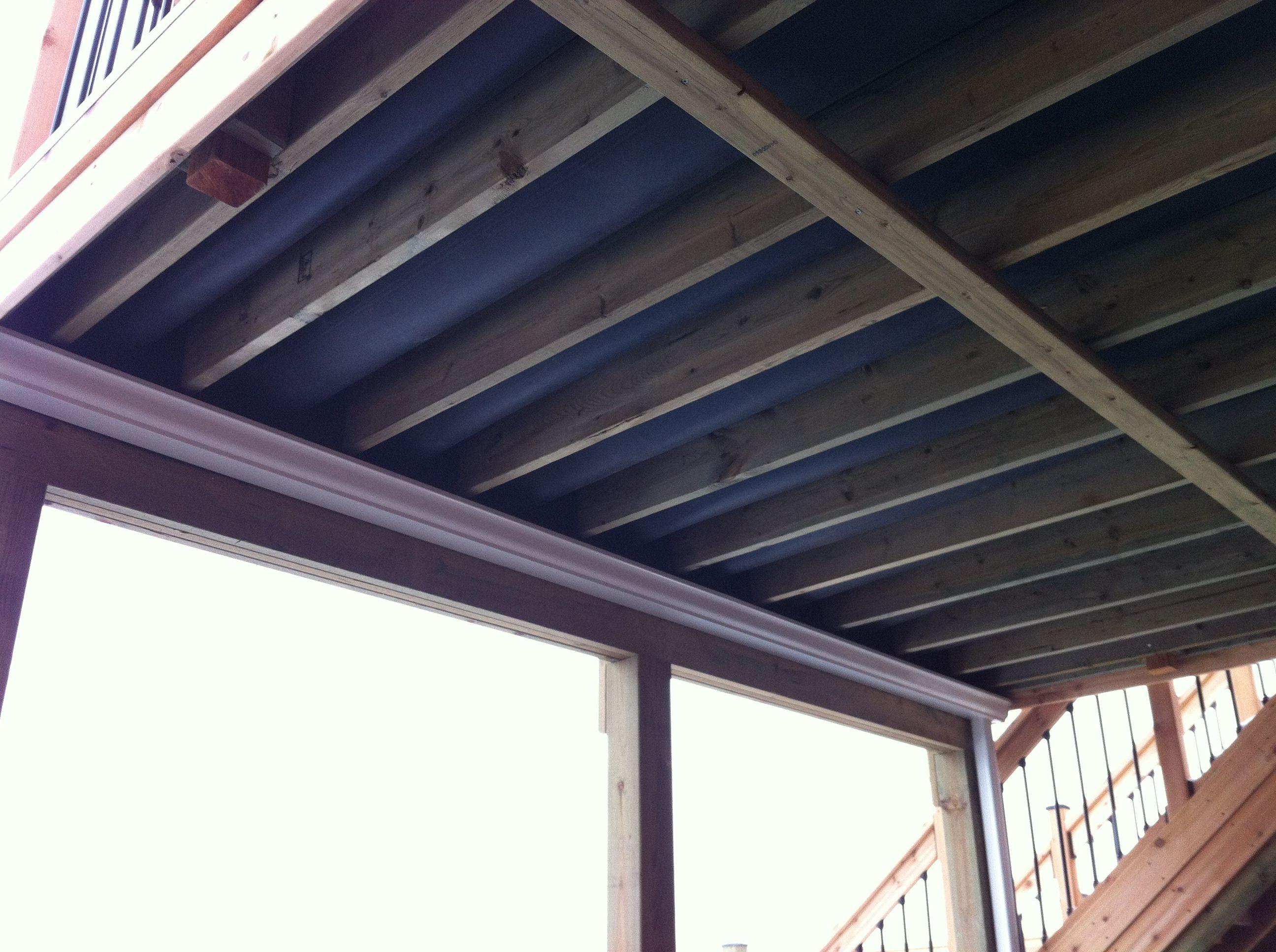 Under Deck Water Drainage System Using Epdm Under Deck