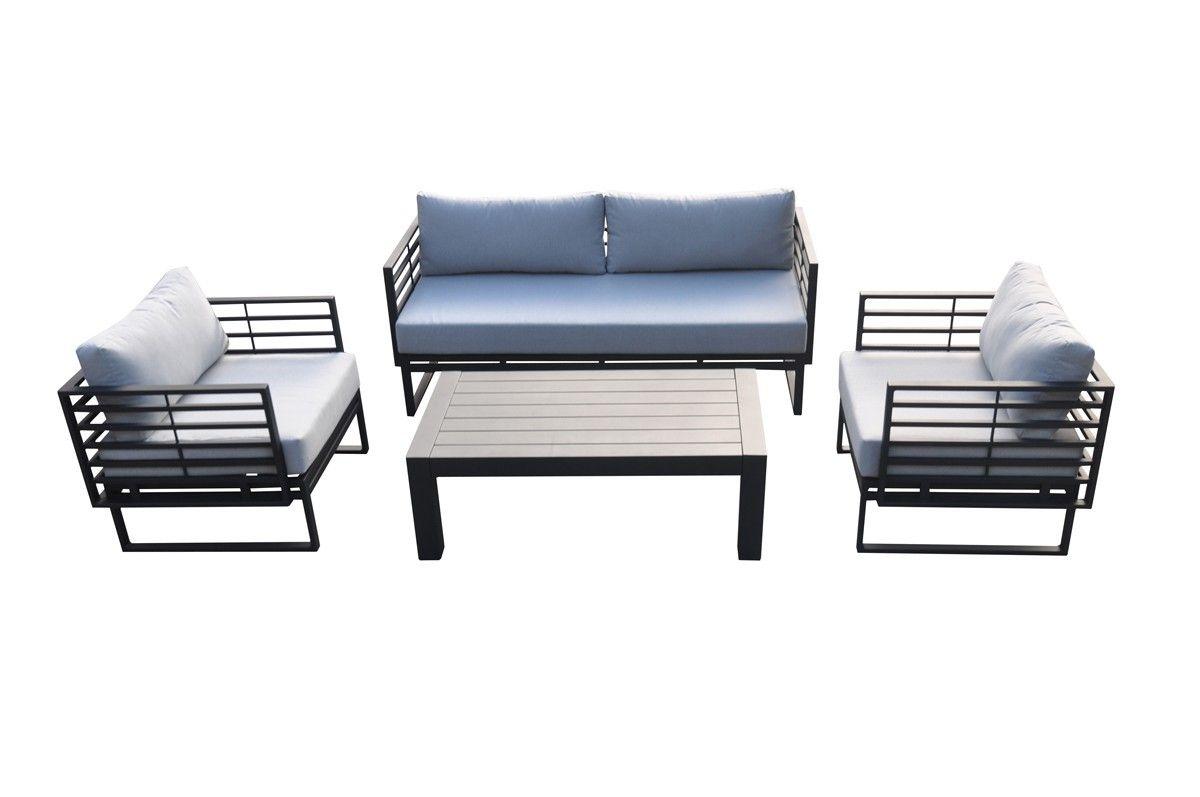 Wharf outdoor grey u black sofa set in outdoor pinterest