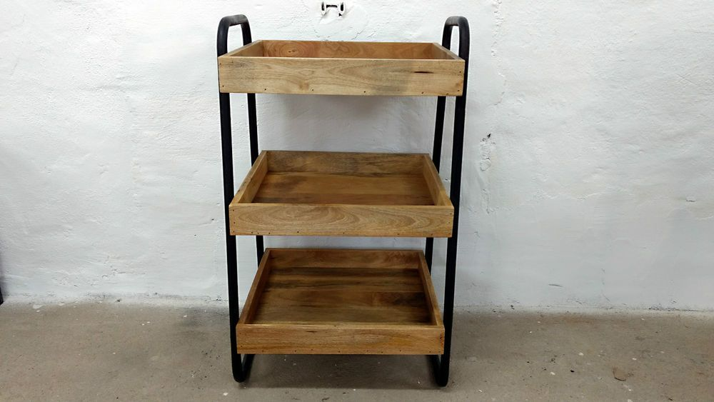 Küchenwagen Beistelltisch mehrstöckig BarTable Industrie Design - küchenwagen aus holz