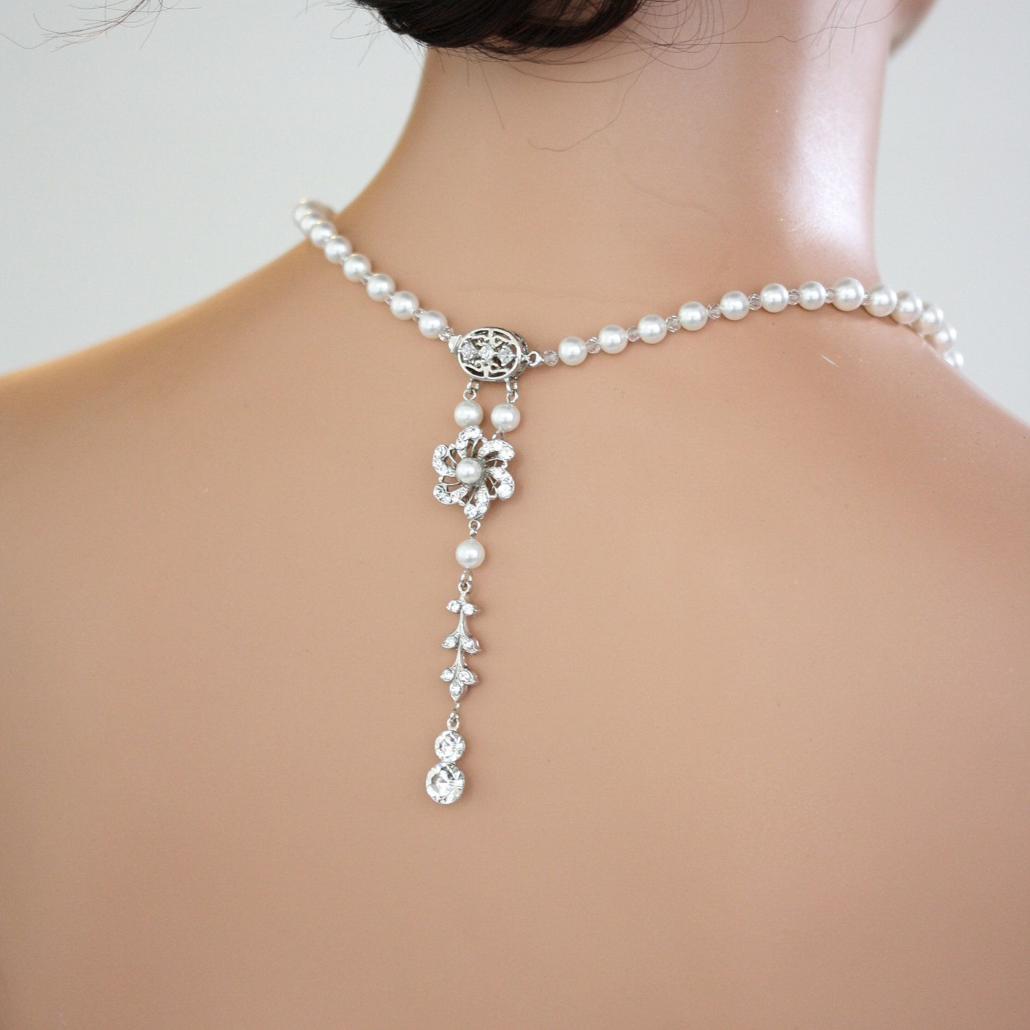 Jewelry the best gps pinterest wedding jewelry for Back necklace for wedding dress
