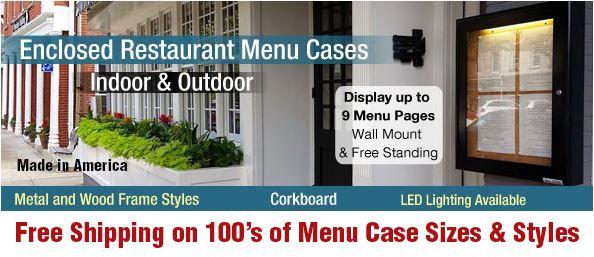 Outdoor Menu Cases Indoor Restaurant Display Lots Of Case Sizes Styles