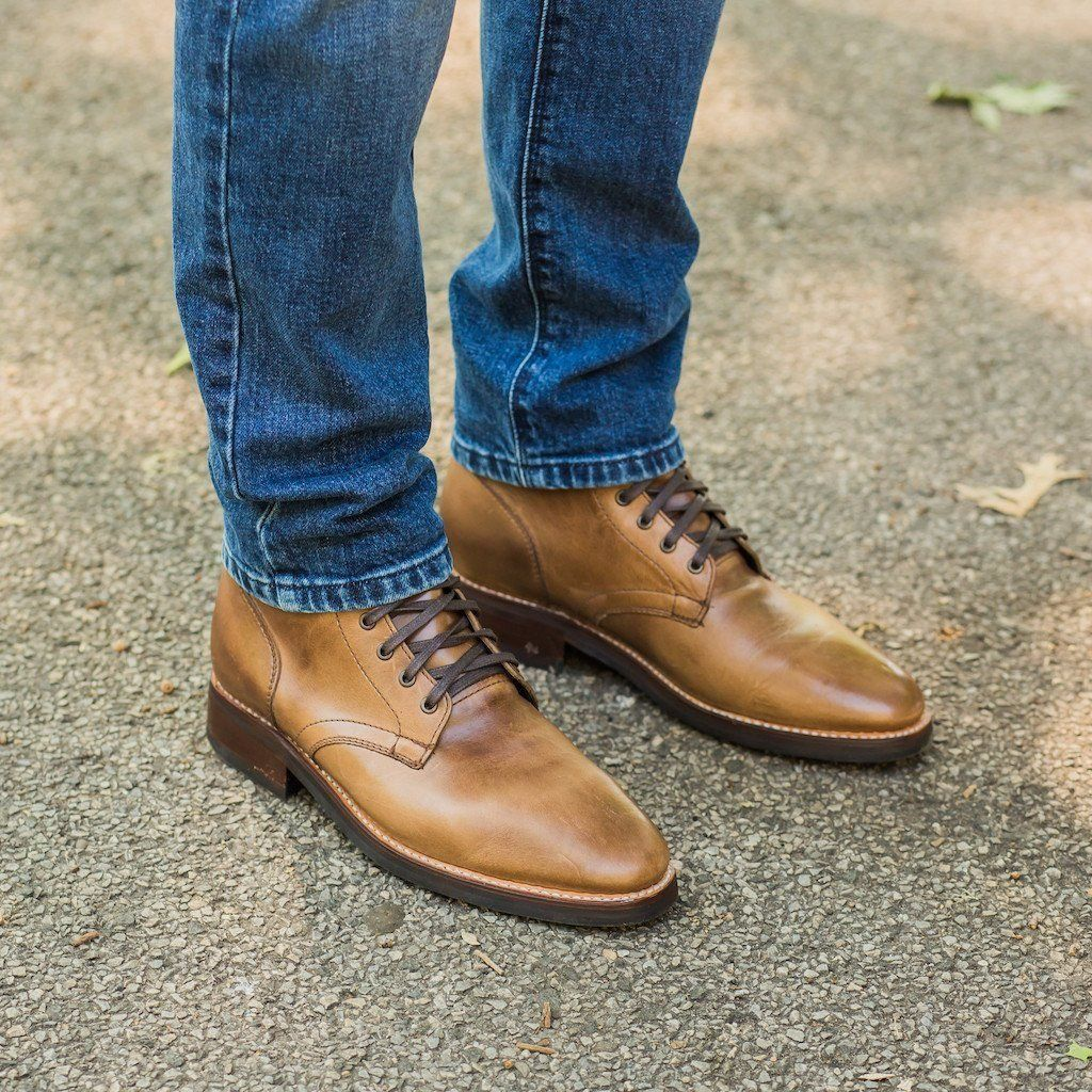 Natural Horween Chromexcel President Boot  Thursday Boot Company