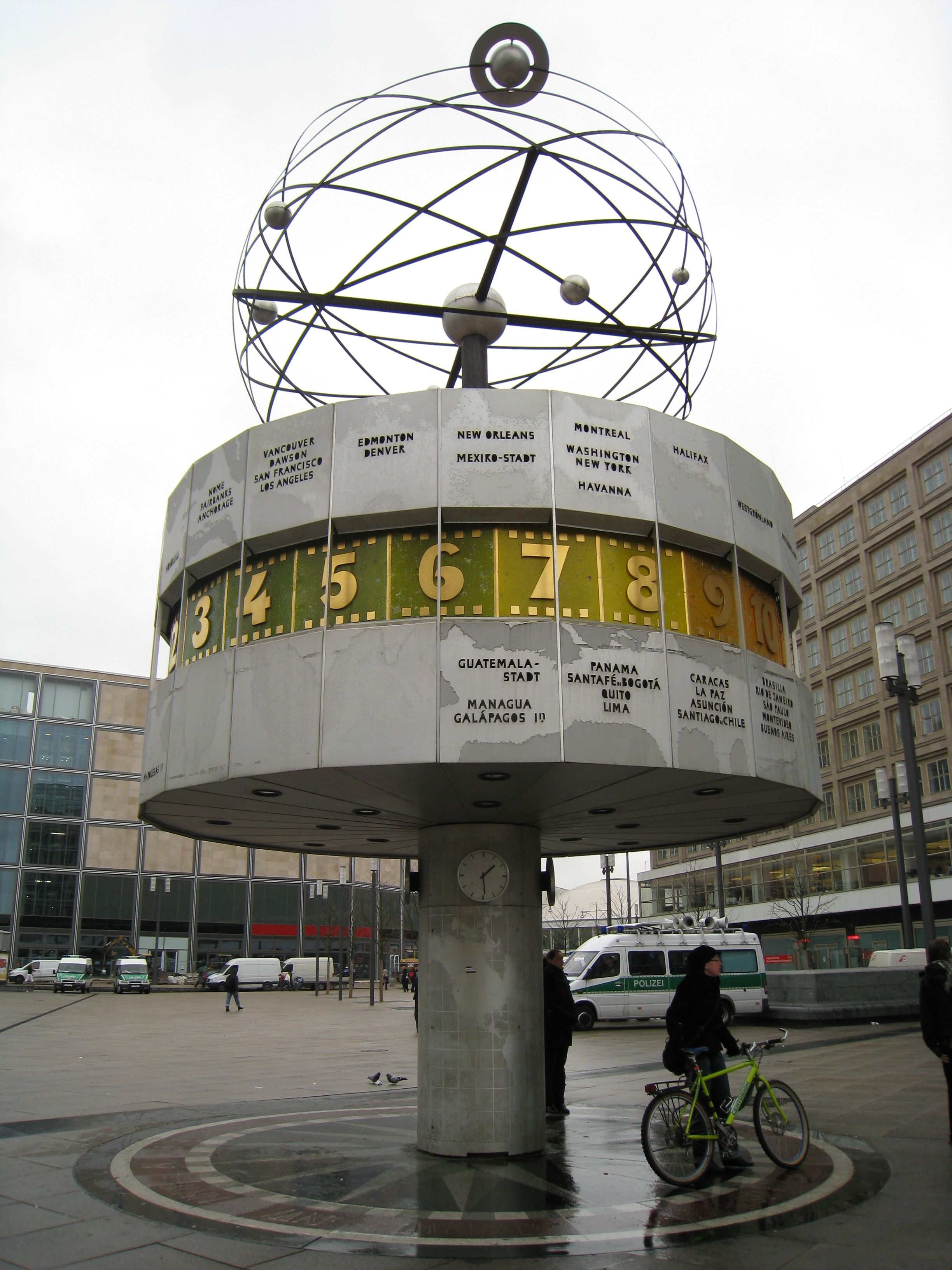 The Weltzeituhr Worldtime Clock At Alexanderplatz In Berlin German Architecture Pictures Of Germany Germany