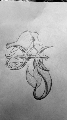 Photo of Atemberaubende Meerjungfrau Fische Tattoo Meerjungfrau Fische Tattoo Skizze – At…