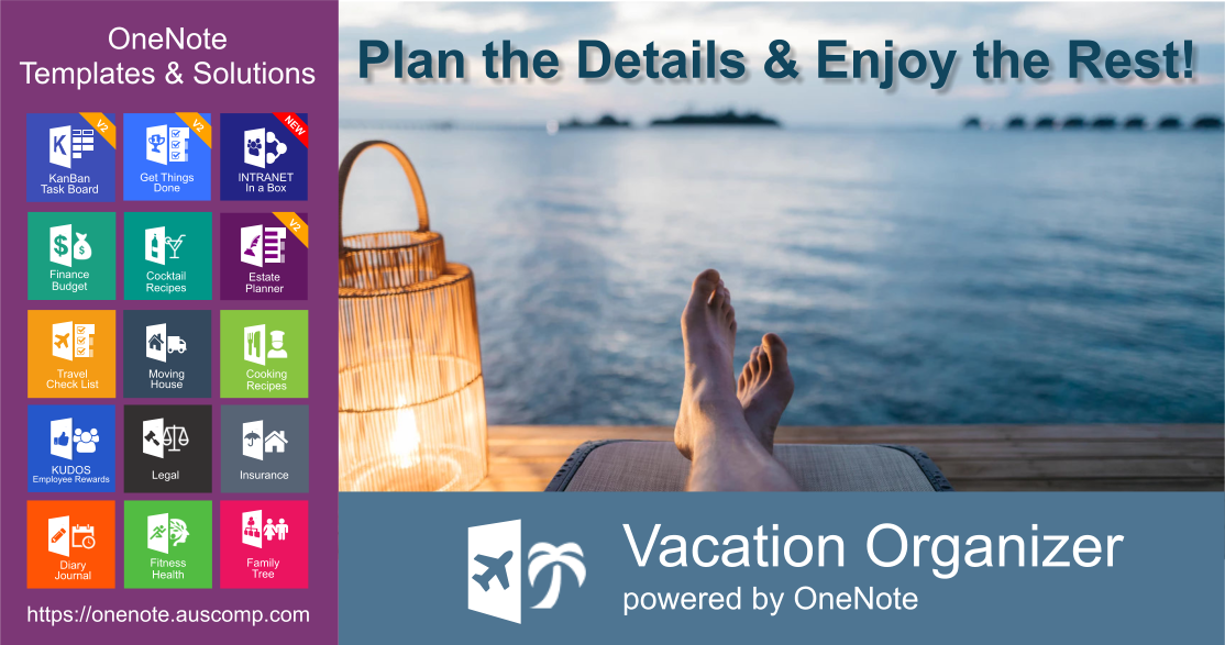Vacation Organizer for OneNote Plan the Details  Enjoy the Rest Please RT Vacation Organizer for OneNote Plan the Details  Enjoy the Rest Please RT