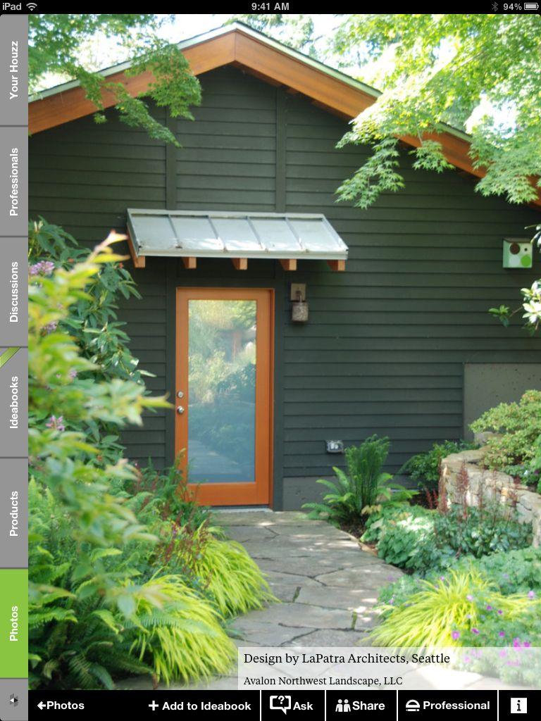 Little Shed Roof Over Door Exterior Doors Back Doors Door Design