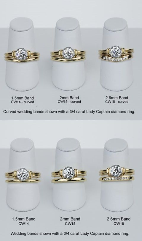 Curved Wedding Bands Are Designed To Follow The Lines Of Your