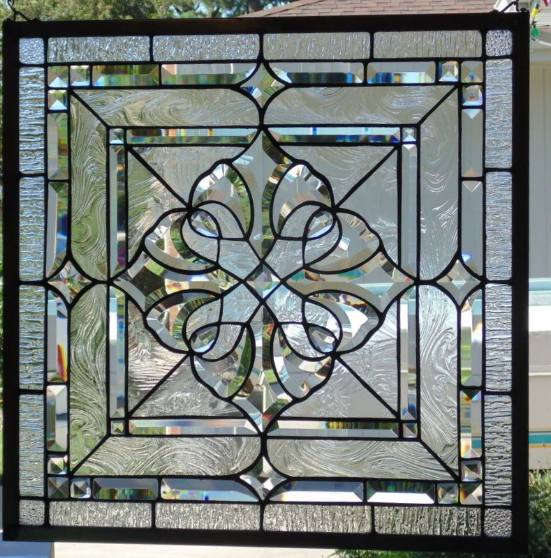 Stained Glass Window Beveled Hanging 23 Square Stained Glass Window Hanging Stained Glass Panels Stained Glass