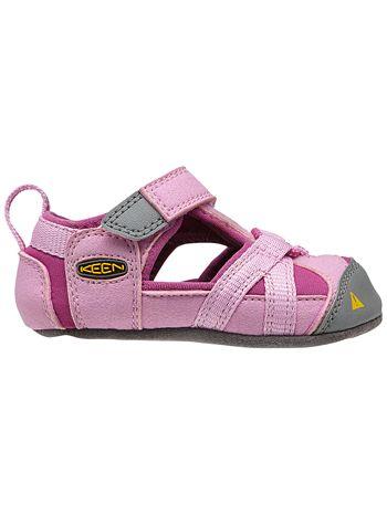 99318e181b6a Aren t these the cutest little soft sole sandals ! KEEN Seacamp Lilac  Chiffon Dahlia Mauve Soft Soles available at www.tinysoles.com!