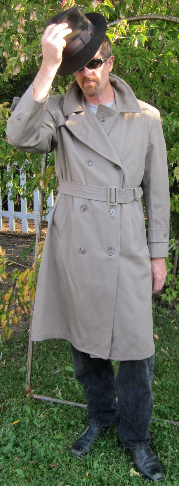 1940'S Man's Double Breasted Aero Grey Gabardine by delilahsdeluxe, $74.50