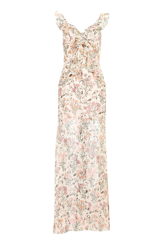 Floral ruffle maxi dress topshop maxis and maxi dresses