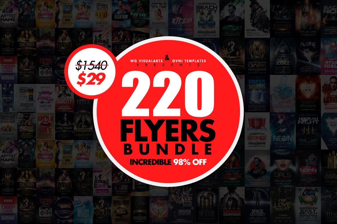 220 MASSIVE Flyer Templates Bundle available here ==> https://crmrkt ...