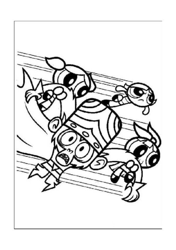 Dibujos para Colorear Supernenas 5 | Dibujos para colorear para ...
