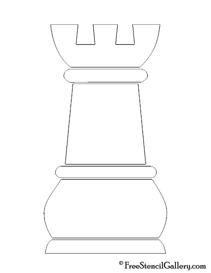 Chess Piece - Rook Stencil | Scout stuff | Pinterest | Schach ...