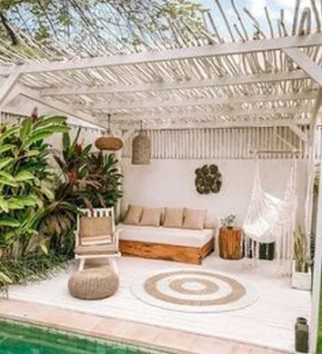 15 Best Backyard Terrace Designs For Relaxing Place With Your Family In 2020 Mediterranean Decor Pool Decor Rustic Outdoor Decor
