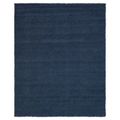 Unique Loom 8 X 10 Solid Shag Area Rug In Navy Area Rugs Rugs