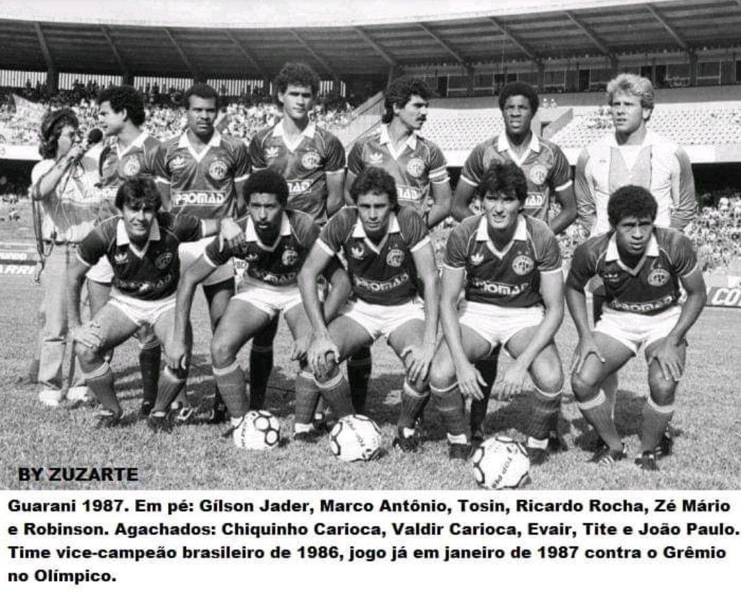 Resultado de imagem para time guarani 1987