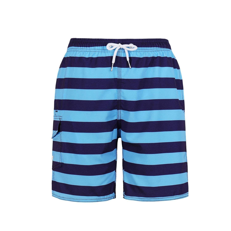 fd81f193f4 Big Boy Board Shorts American Flag Design - Blue - C818HHM3KXI - Boys'  Clothing,