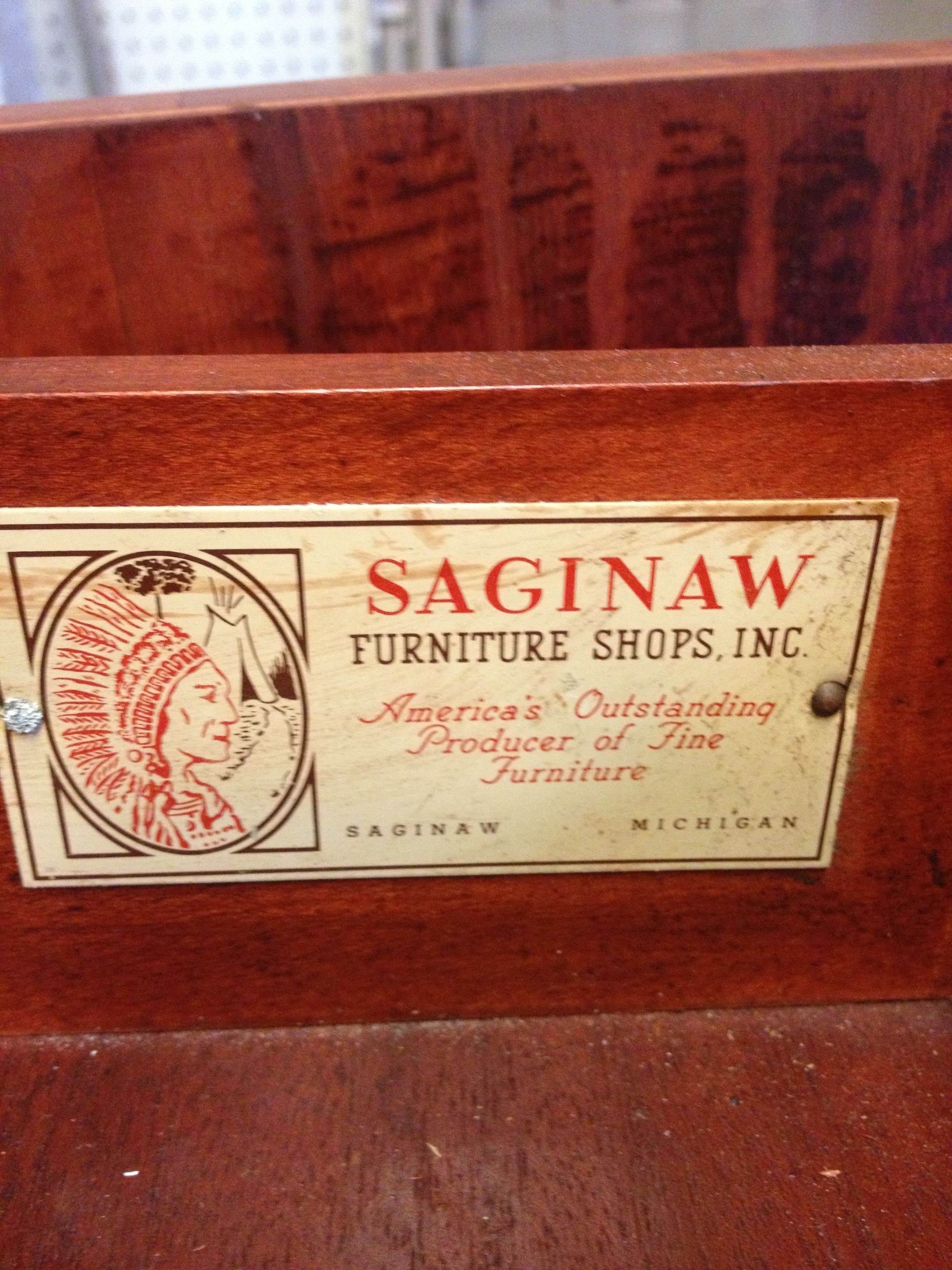 Marvelous Antique Table Ca1950u0027s From Saginaw Furniture