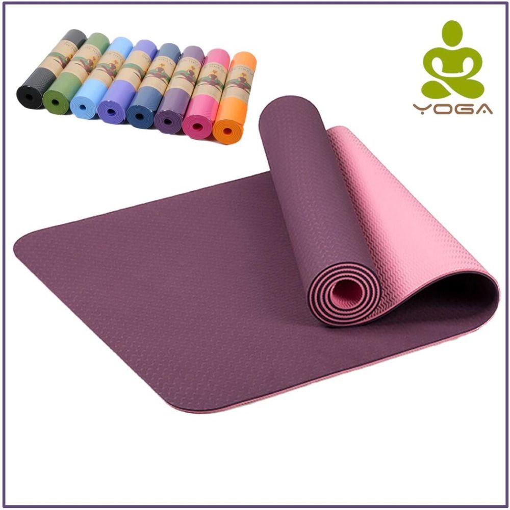 036 34 89 036 29 89free Shipping 6mm Tpe Non Slip Yoga Mats For Fitness Tasteless Brand Pilates Mat 8color Gy Mat Pilates Yoga Strap Colorful Yoga Mats