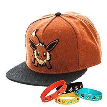 Pokemon Go Eevee Snapback Cap Hat with Bracelet  cd94f5b24aaa