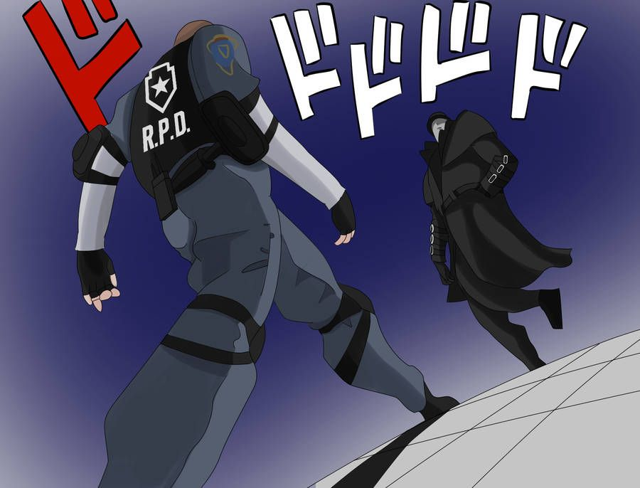 Resident Evil 2 Leon And Mr X Standoff By Johnapocalypse Resident Evil Resident Evil Funny Evil