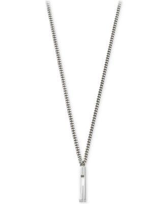 2012ac6b6 Gucci Men's Sterling Silver Small G Pendant Necklace YBB22505500100U ...