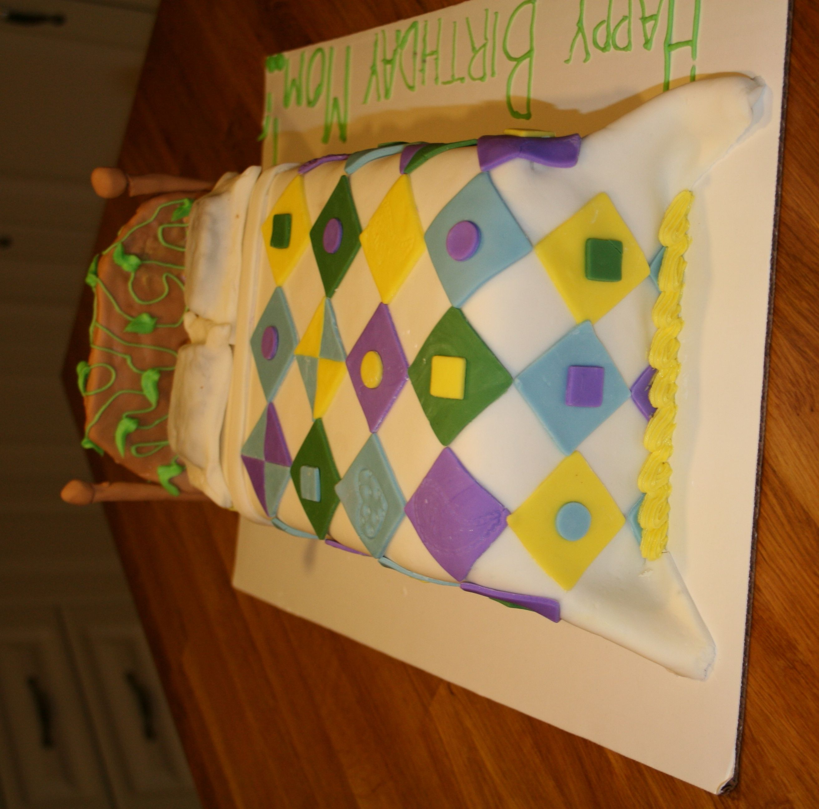 A great birthday cake for the quilter in your life!