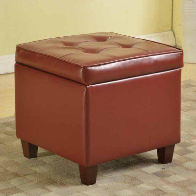 Cool Kinfine Usa Square Tufted Leatherette Storage Ottoman Inzonedesignstudio Interior Chair Design Inzonedesignstudiocom