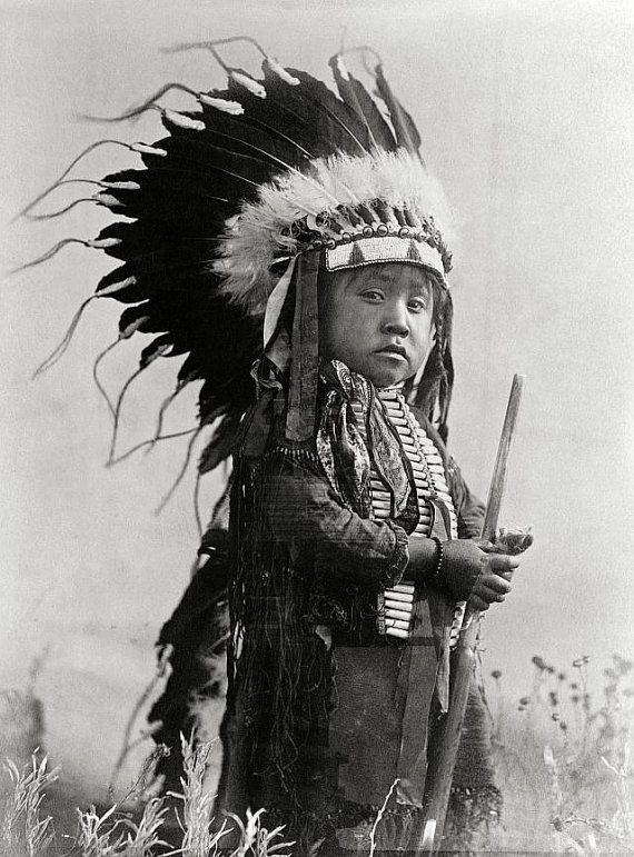 Young native american photograph, year 1907. A Cheyenne ...