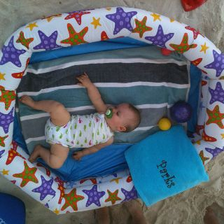 Blow Up Kiddie Pool Is A Great Play Pen For The Beach