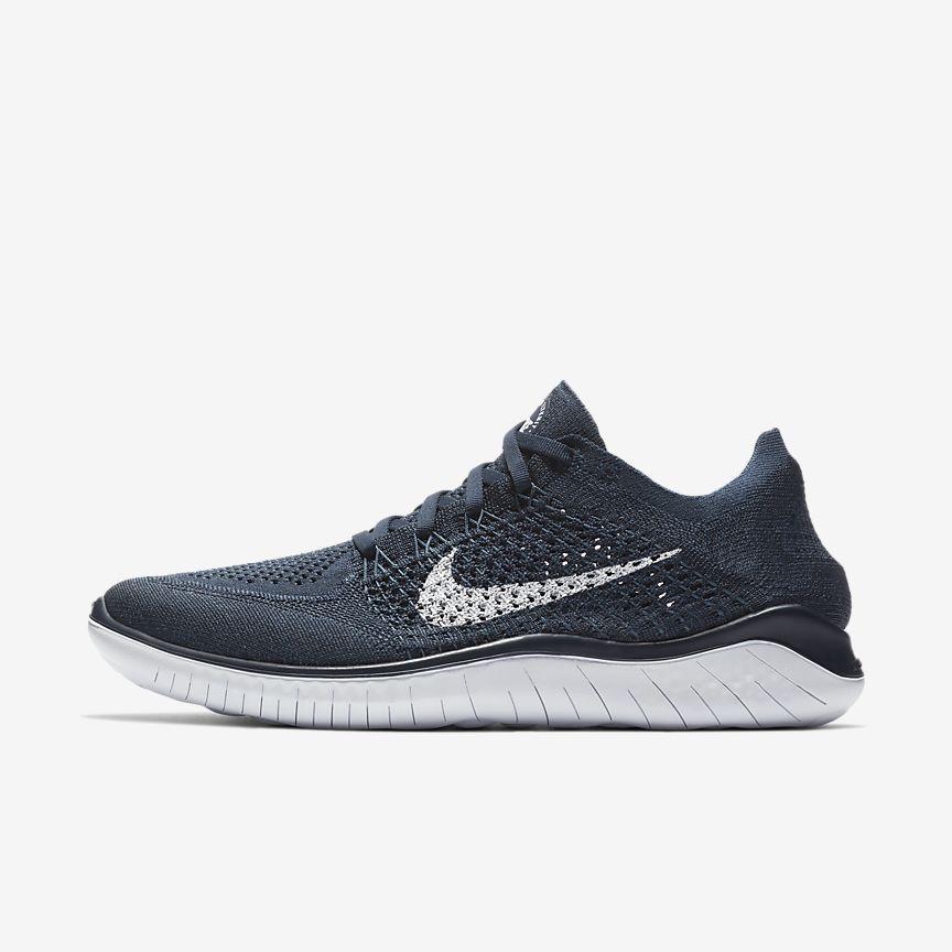 Men's Nike Free RN Flyknit 2018 College Navy Squadron White